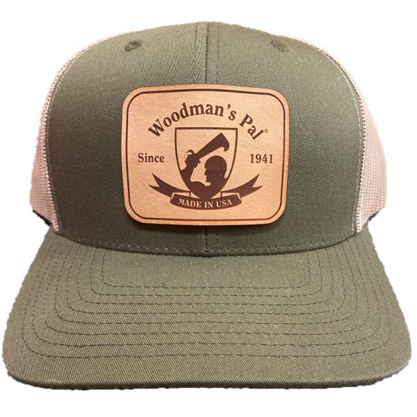 Woodman's Pal Hat Moss Front Khaki Back with Official Logo on Leather Patch